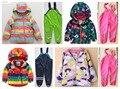 Chica masculina otoño y el invierno niño conjunto ropa infantil engrosamiento chaqueta al aire libre a prueba de viento impermeable traje de esquí
