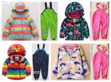 Мужской девочка осенью и зимой ребенок ветрозащитный непромокаемые детская одежда набор ребенок утолщение открытый лыжный костюм куртка
