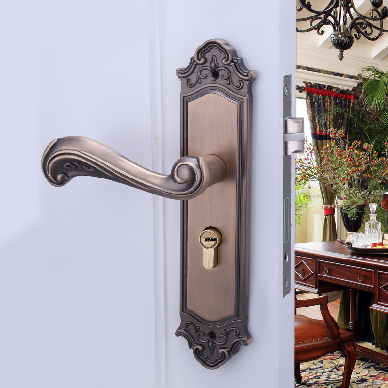 2018 Time-limited Zinc Alloy High-grade Indoor Door Lock Bedroom Mechanical Hardware Manufacturers Selling G Locks Wholesale 2018 padlock ivory white hand lock manufacturers selling high end european aluminum alloy indoor door hardware wholesale 901 2