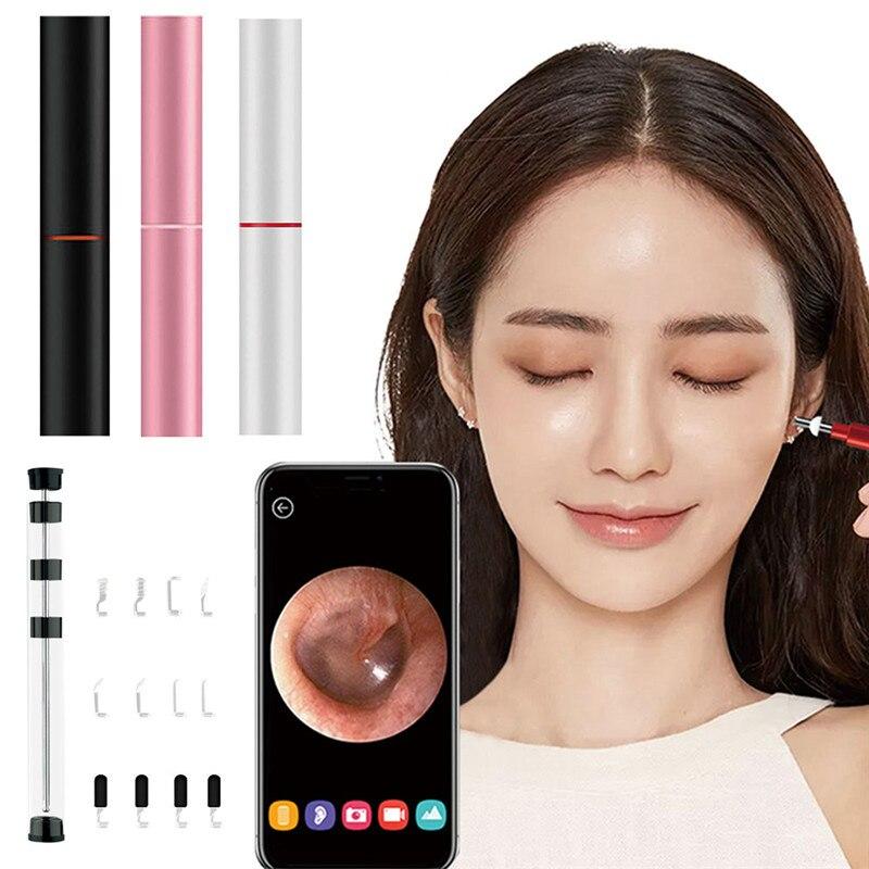 3.9mm WIFI oreille outil de nettoyage HD oreille visuelle cuillère multifonctionnel Earpick avec Mini caméra stylo oreille soins dans l'oreille nettoyage Endoscope