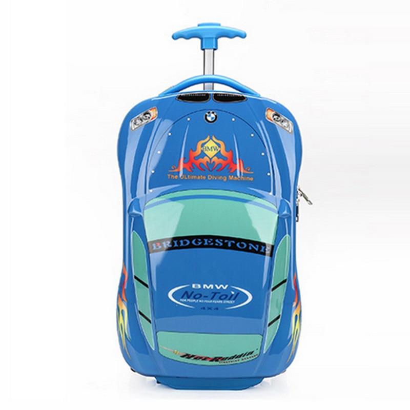 New Hot Suitcase Sell Kids Trolley School Bag Fashion Children Cartoon Bag ABS+PC School Bag On Wheels Travel Bags Free Shipping цена