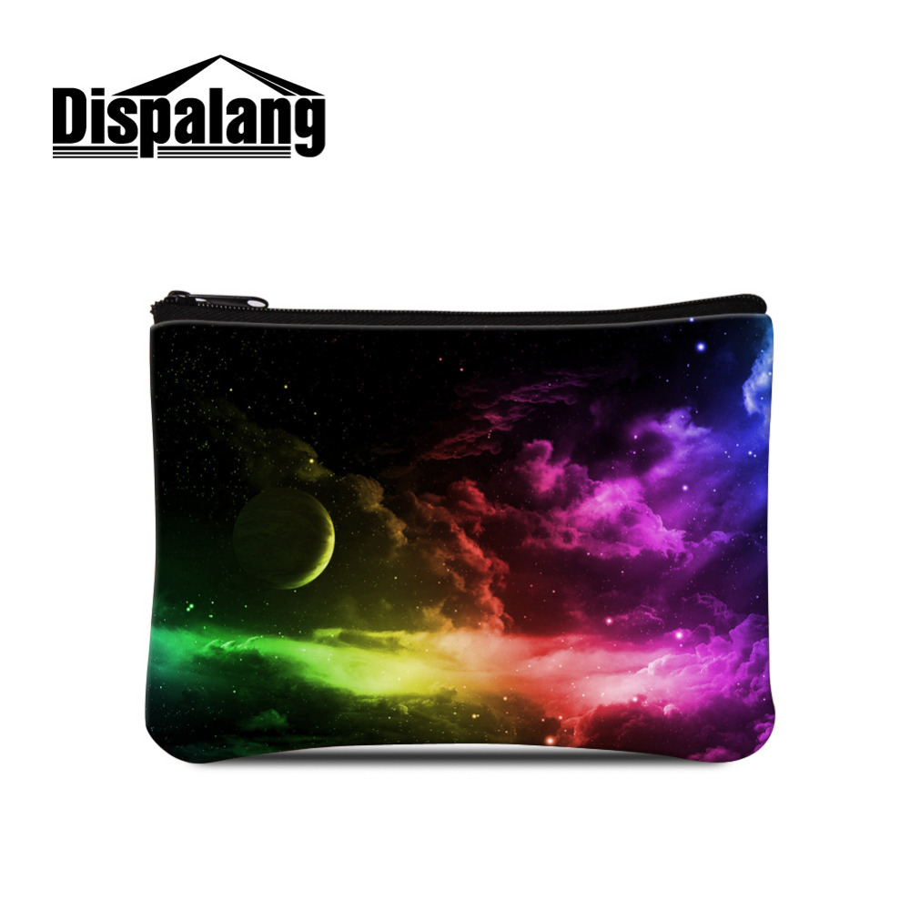 Dispalang Small Wallet Galaxy Star 3D Print Mini Change Coin Purse Kids Purse Girls Makeup Buggy Bag Portable Money Card Bag