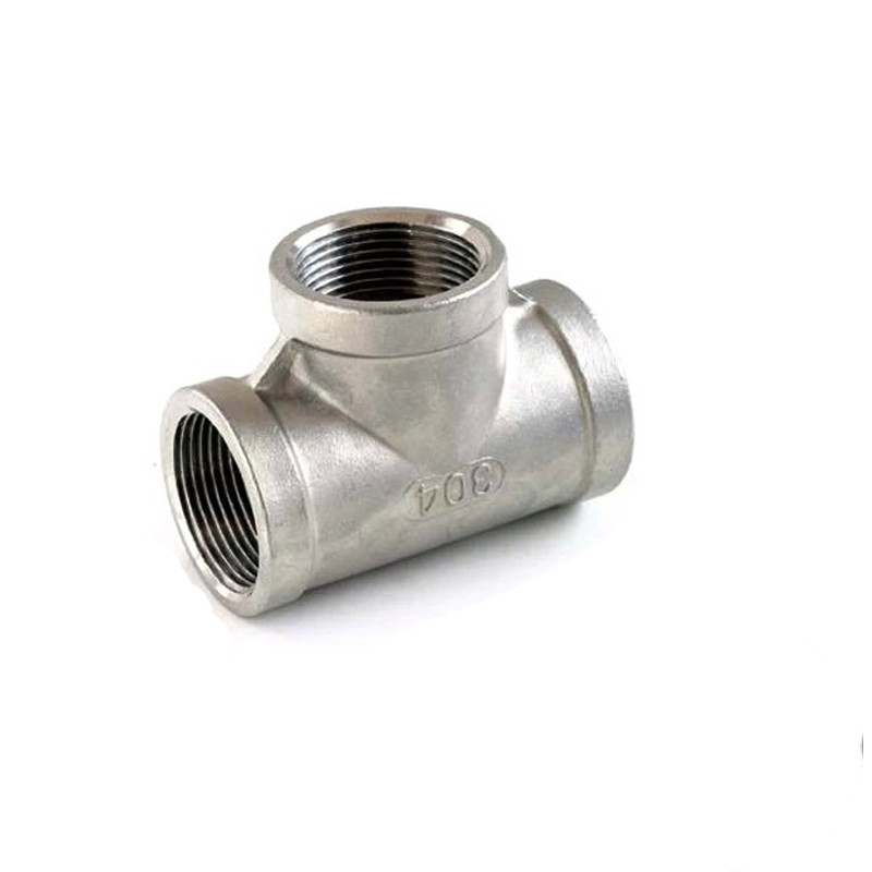SS304 Stainless Steel Female Threaded 3 Way Tee T Pipe Fitting 1/8