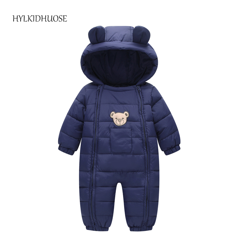 HYLKIDHUOSE 2017 Infant/Newborn Winter Rompers Baby Girls Boys Windproof Rompers Children Warm Outdoor Rompers Kids Jumpsuits cotton baby rompers set newborn clothes baby clothing boys girls cartoon jumpsuits long sleeve overalls coveralls autumn winter