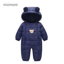 HYLKIDHUOSE 2017 Infant/Newborn Winter Rompers Baby Girls Boys Windproof Rompers Children Warm Outdoor Rompers Kids Jumpsuits