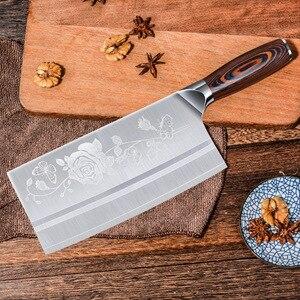 Image 3 - Timhome 8 дюймов нержавеющей стали нож китайский Мясник нож мяса нож измельчитель овощерезка кухонный шеф повара нож