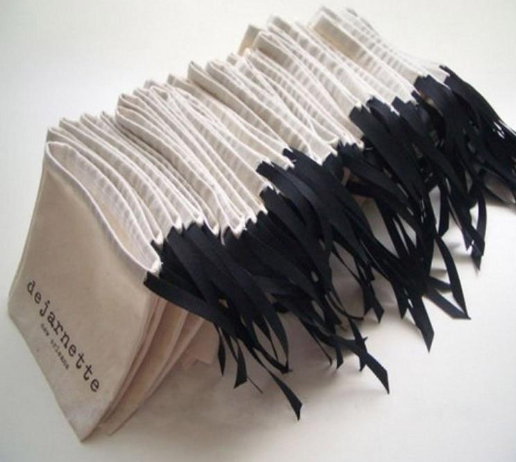 Jewelry Cotton Ribbon Drawstring Bag 8x10cm(3