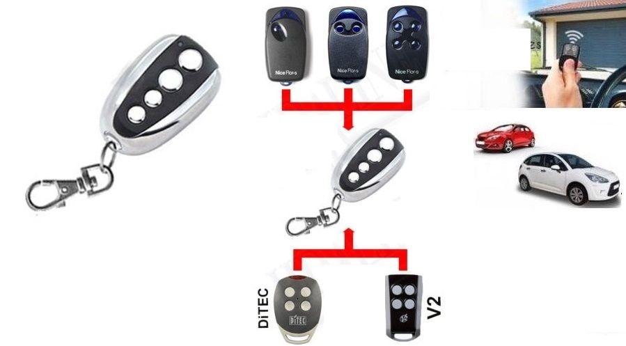 copy Ditec V2 Nice Flor s universal 433 92mhz rolling code garage door in Theft Protection from Automobiles Motorcycles