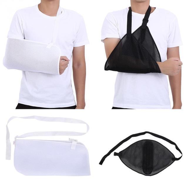 Brazo de malla médica eslinga hombro ajustable inmovilizador muñeca codo  fractura dislocación apoyo espray brazo Brace eaf7a74b4423