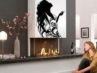 Piękna kobieta salon kosmetyczny Spa Dzieci Pokój Stylowa Wall Art Naklejka Naklejka