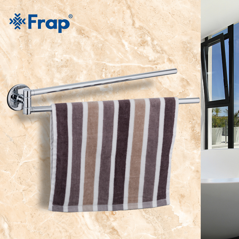 Frap Silver Wall Viscose  Mounted Stainless Steel Double Towel Bars Bathroom Towel Hanger Bathroom Accessories Towel Rack F3812Frap Silver Wall Viscose  Mounted Stainless Steel Double Towel Bars Bathroom Towel Hanger Bathroom Accessories Towel Rack F3812