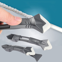 3 in 1 Sealant Angle Scraper Silicone Grout Caulk Tool Kit Remover Tool Hand Tool Set|Hand Tool Sets|   -