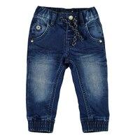 Для маленьких мальчиков джинсы Брюки для девочек новорожденных Мягкая Дамские шаровары малыш стрейч Джинсы для женщин однотонные брюки Де...