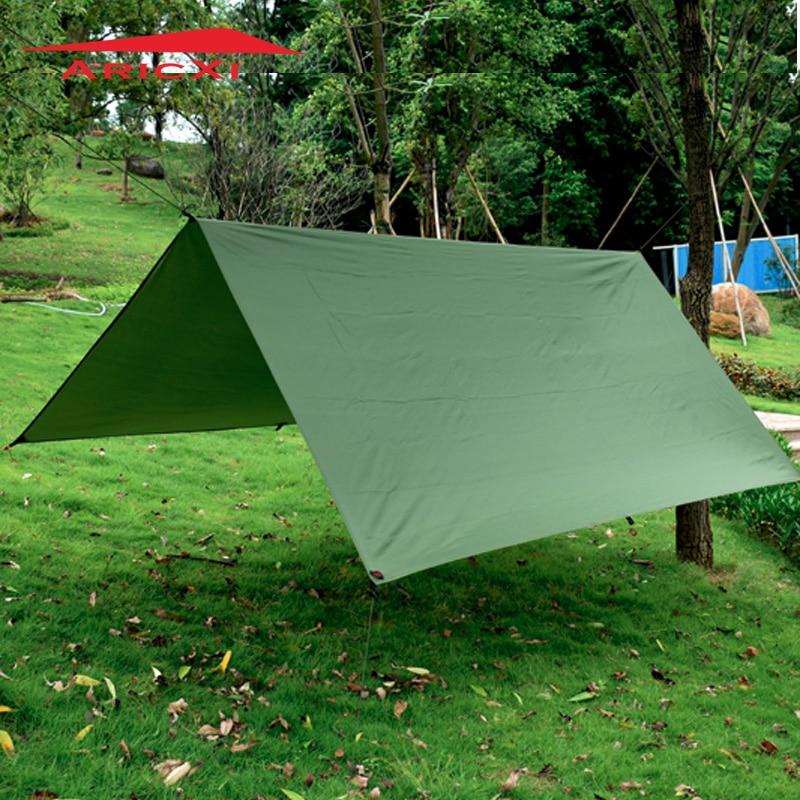 ARICXI Silver Coating Anti UV Ultralight Sun Shelter Beach Tent Pergola Awning Canopy 210T Taffeta Tarp Camping Sunshelter толстовка supremebeing iconoclast crew burgundy 9718 l