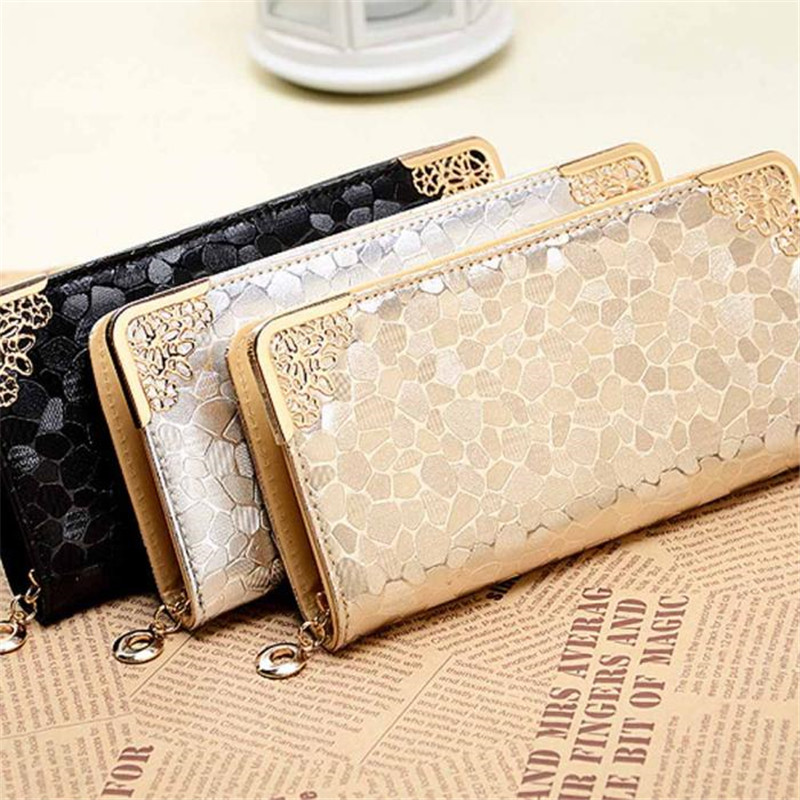 2016 New Womens Purses And Handbags Bags Girls Famous Brand Long Women Leather Wallet Female Evening Clutch Purses Card Holder