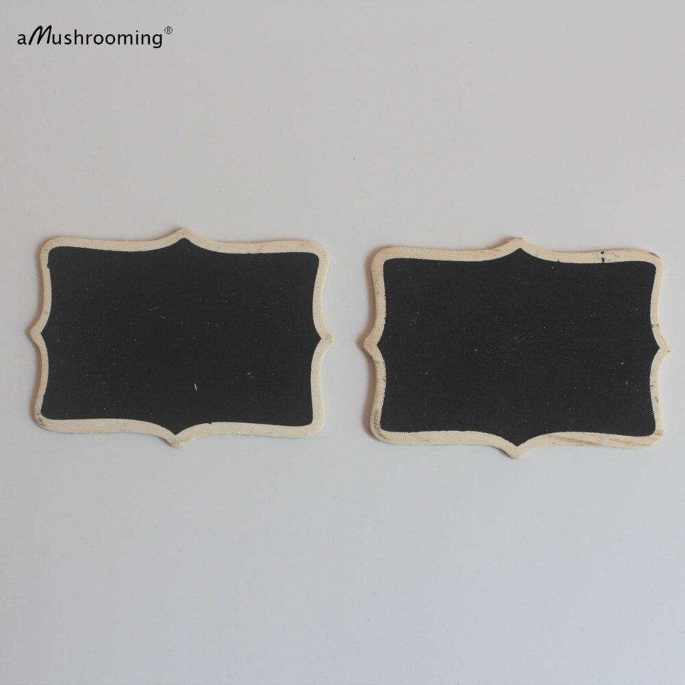 100 Pieces Personalized Scroll Fancy Mini Chalkboard Signs Wedding ...
