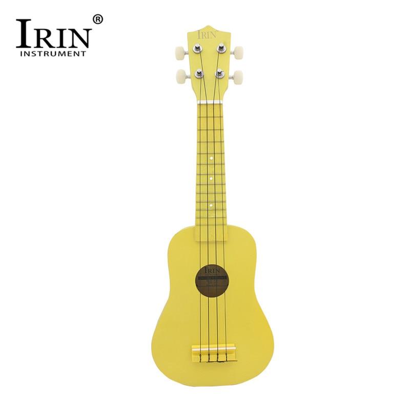 IRIN Ukulele 21 Inch Guitar 4 Strings Hawaii Acoustic Guitar Beginners Practice Wood Fingerboard Instrument For Kids Children headpiece