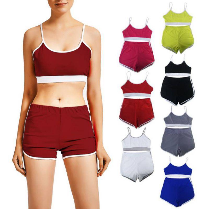 @1  7-цветный контрастный быстросохнущий спортивный костюм для йоги эластичный фитнес дышащий бюстгальте ①