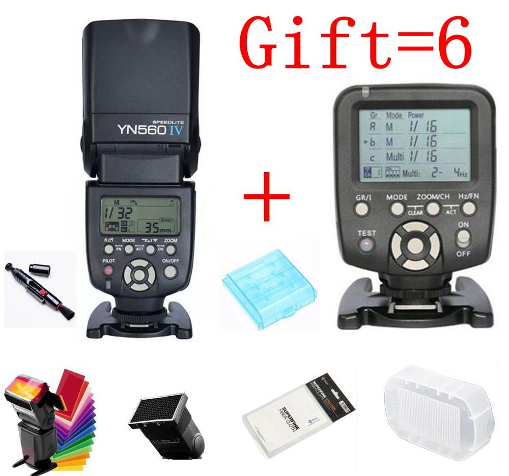 цена на Yongnuo YN560IV YN560 IV YN 560 Flash Speedlite for Canon Nikon With YongNuo 560TX Flash Trigger