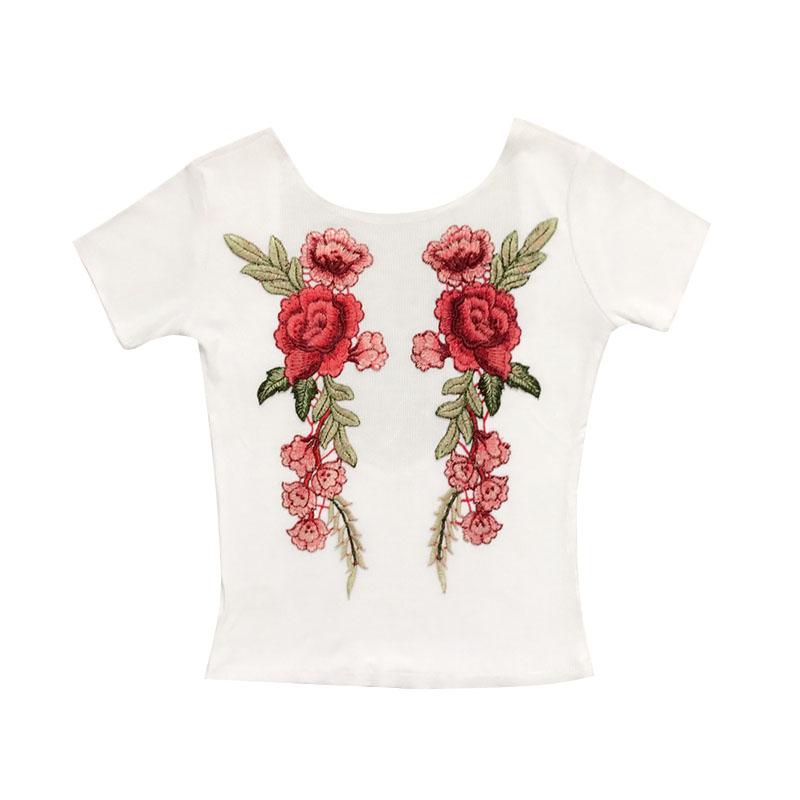 HTB1SBu6SpXXXXbyXpXXq6xXFXXXH - Sexy Flower Embroidery T-shirt PTC 60