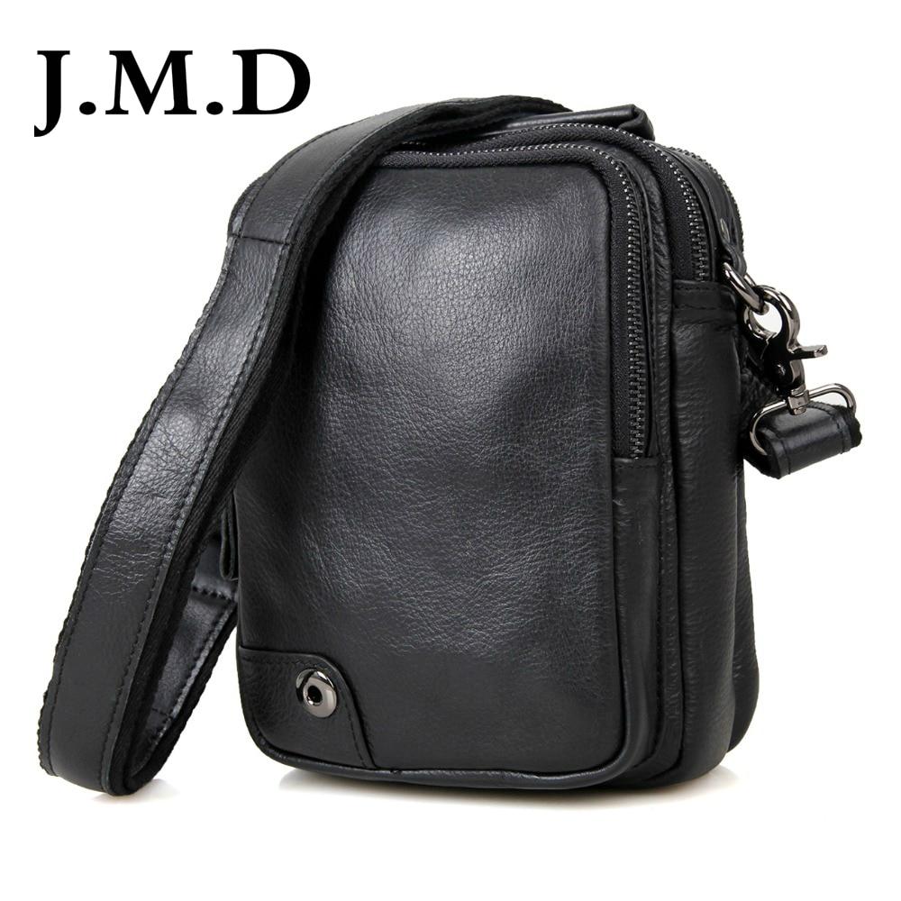 J.M.D cuir véritable noir petit sac à bandoulière pour hommes sacs à bandoulière Messenger pour téléphone sac à main sacs à main 1007A