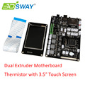 "3D Printer Motherboard Chitu V3.9 Dual Extruder Motherboard Thermistor with 3.5"" Touch Screen Support WiFi APP Control"