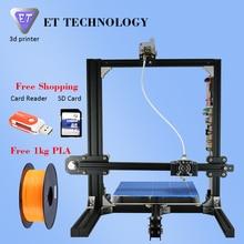 2016 LCD Kit de Impresora 3D de Gran Tamaño de Impresión 3D de la Máquina de Impresión PLA Impresora 3D Con 1 kg Envío Diversos para Su Opción