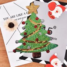 Рождественская елка, нашивка, блестки, елки, узор, нашивки, наклейки, сумка для переноса, железные нашивки для одежды, аппликации