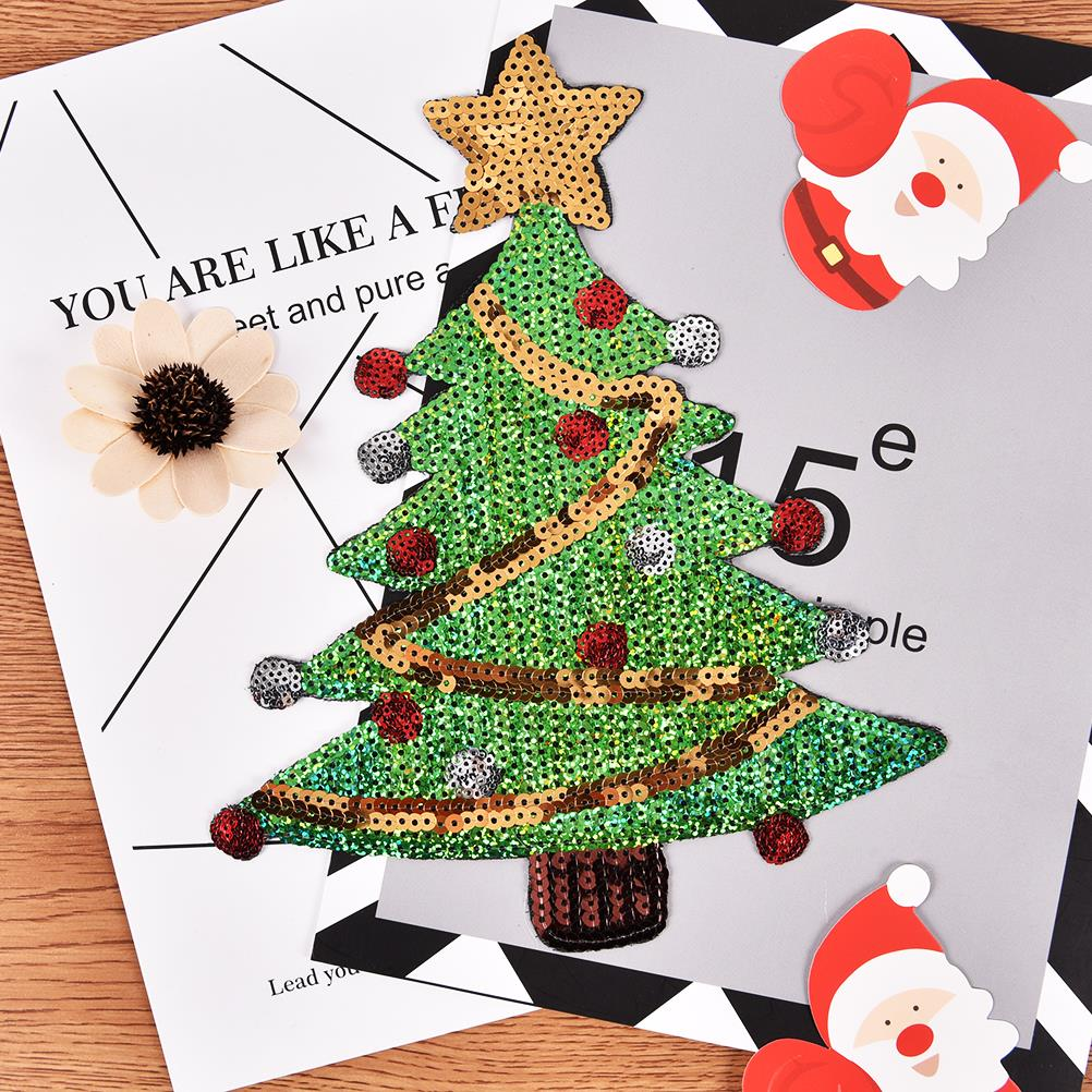 Christmas Tree Patch: Aliexpress.com : Buy 1Christmas Tree Patch Sequins