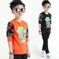2017 Spring T-Shirt Cotton Boys Clothes Casual Baby Children Clothing Tattoo Print Long Sleeve T Shirts Toddler Kids Top Tees
