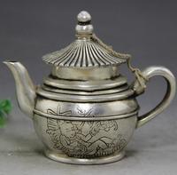 Tique antiek brons ambachten ornamenten Woninginrichting Cupronickel reliëf jongen theepot waterkoker