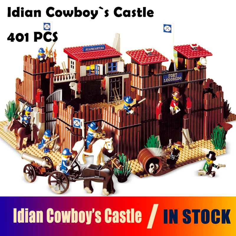 Model Building Blocks 33001 742Pcs The Idian Cowboy`s Castle Set Bricks Toys Model Gift Compatible with lego 6769 black pearl building blocks kaizi ky87010 pirates of the caribbean ship self locking bricks assembling toys 1184pcs set gift