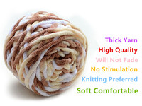 600g Bag 6pcs Hand Knitting Thick Yarn Multicolor Knitting Cotton Acrylic Thick Yarn For Hat Scarf