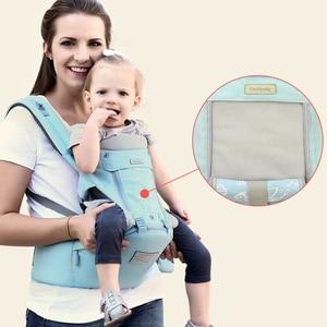 Image 4 - Honeylulu ארגונומי מנשא עם תיק קלע תינוקות ארבע עונות תינוק קנגורו Windproof כובע Ergoryukzak Hipseat