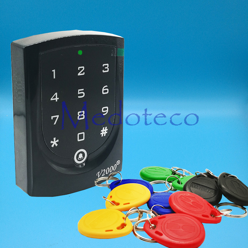 New 125khz rfid Card Access Control EM card Press keypad access controller wiegand 26 input & Output Door Lock Reader full waterproof em id 125 khz wiegand 26 rfid proximity door access control card keypad machine controller reader lock