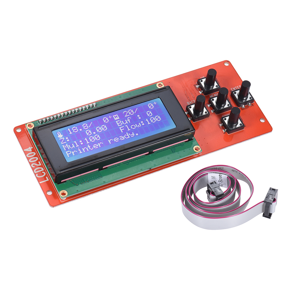 LCD Smart Display Blue Screen Controller Module With Cable For RAMPS 1.4 Mega Monitor Motherboard Shield 3D Printer