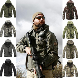 Outdoor Sport Softshell TAD Jacket Tactical Sets Men's Camouflage Hunting Clothes Military Coats Camping Hiking Hooded Jacket