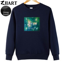 Dandelion Seeds Freedom life Taraxacum Green plant Boys Man fleece Sweatshirt  couple clothes ZIIART цена и фото