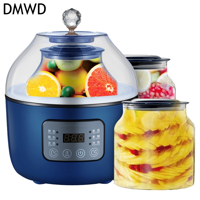DMWD Multifunctional Household 20W Enzyme/Yogurt/Rice wine/red wine making machine Two liners Fully Automatic ferment maker cukyi full automatic household multi purpose enzyme machine for yogurt rice wine machine enzyme bucket 2 0l frement maker