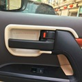 Wooden / Silver Car Interior Door Handle Bowel Styling Cover For Toyota Land Cruiser 200 FJ200 Accessories 2012-2016
