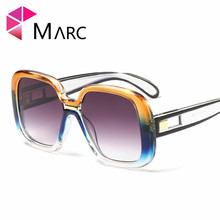MARC NEW Sunglasses Women Ocean Ladies Shades Brand Big Frame Sun Glasses Oversized Female UV400 Eyewear Square Shield 2019