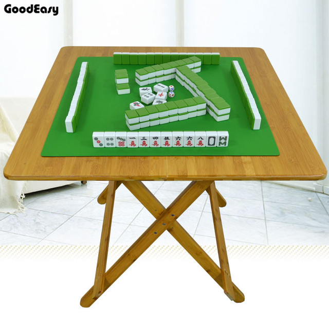 59.3cm Bamboo Mini Foldable Poker Mahjong Table Chess Table Board Game  Mahjong Games Home Games