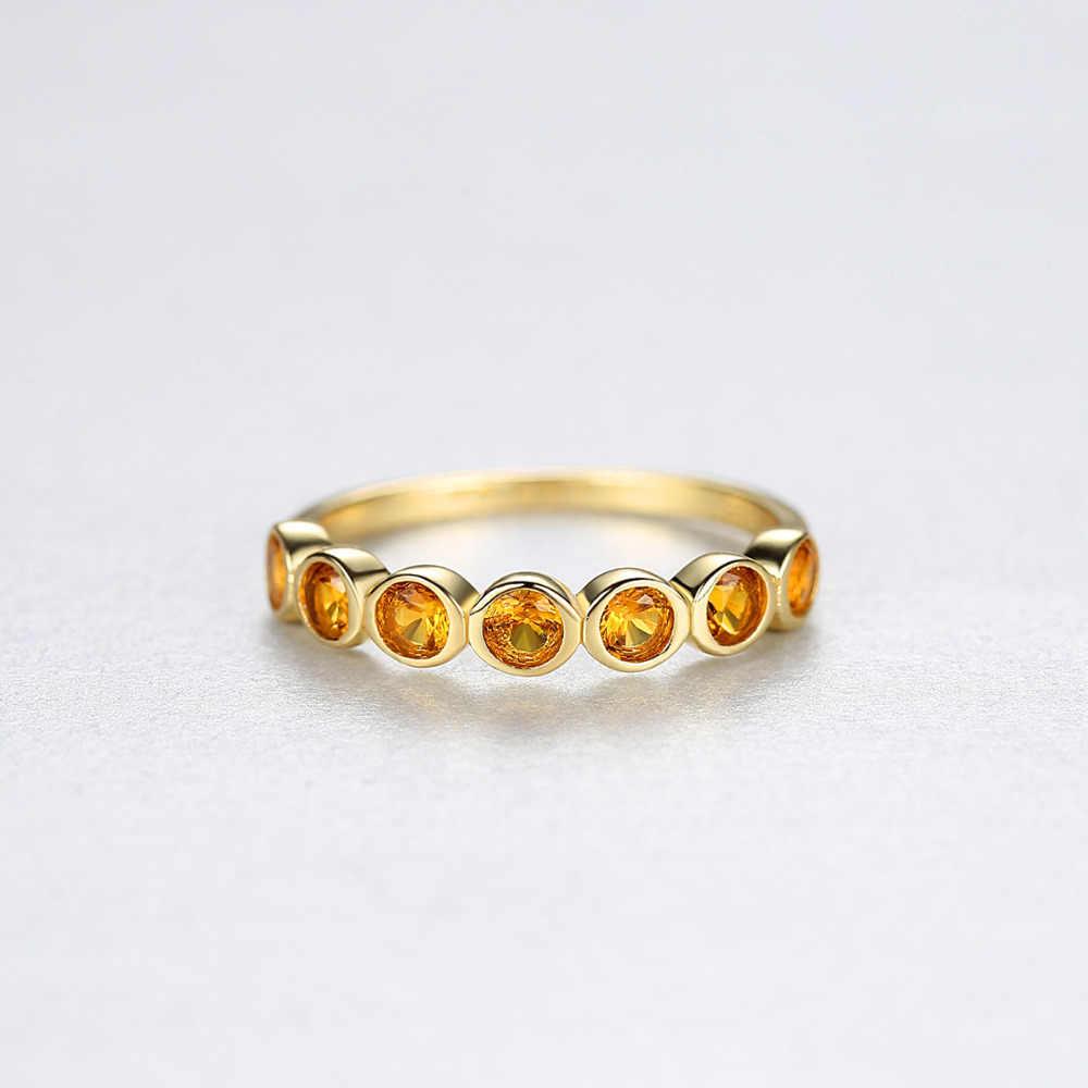 DR จริง 925 เงินสเตอร์ลิง Eternity แหวนแหวนหมั้นแต่งงานเครื่องประดับ Topaz อัญมณี Bague Femme S925 แหวน