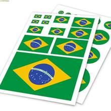 Autocollant en vinyle motif drapeau brésilien pour voiture, décoration de carrosserie de voiture, style de voiture