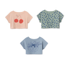 Lashojas 2019 Cherry Cropped Sweater for kids girls tops