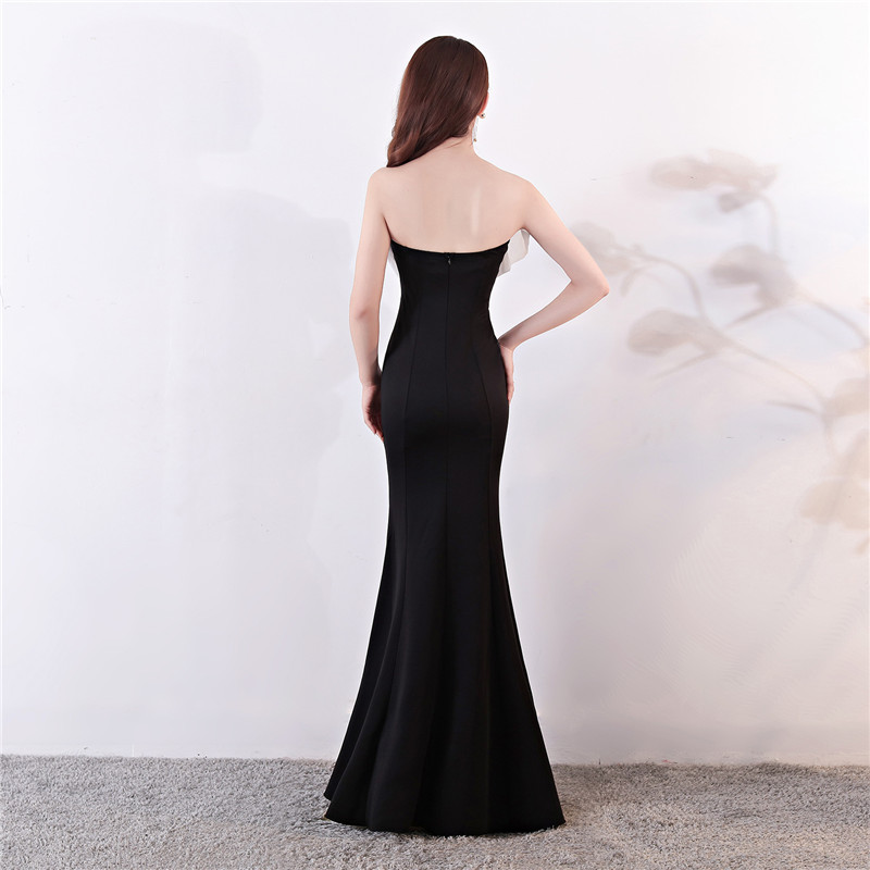 Dower Me 2019 Trumpet Dress 6 Colors Women Sexy Strapless Summer Dress Fashion Slim Sleeveless Elegant Floor Length Vestido C141 in Dresses from Women 39 s Clothing
