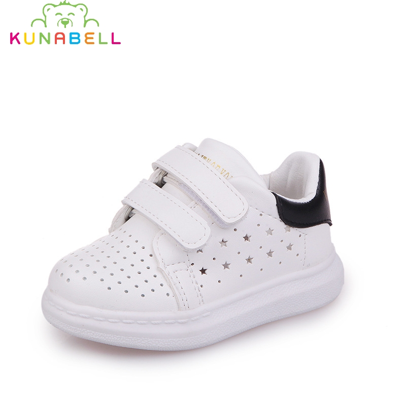 2017 Children Autumn Casual Sneakers Baby Boys White Hollow Comfortable Shoes Kids Girls Breathable Flats C422