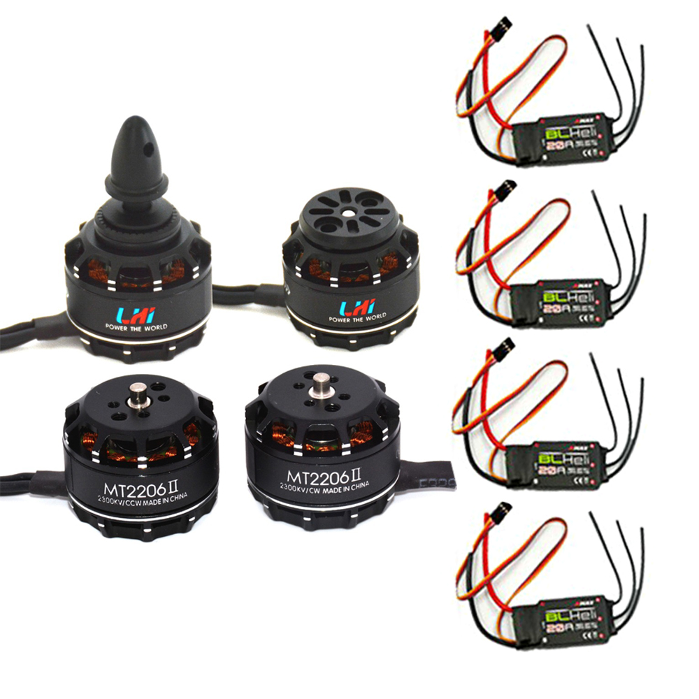LHI FPV 4x MT2206 2300kv CW CCW FPV Brushless Motor (2-4S) +4pcs 20A ESC Speed ControllerMini Quadcopter QAV250 lhi fpv 4x mt22042300kv cw ccw fpv brushless motor 2 4s 4pcs littlebee esc 20a speed controller for mini quadcopter qav250