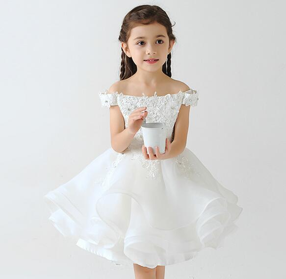 6c5e803fd833 Hot Sale Lace Bead Flower Girl Dresses for Wedding Ball Gown Off Shoulder  Holy Communion Dresses First Communion Dresses