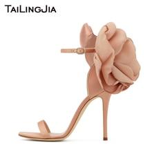 Women Heels Wedding Sandals Party Dress Shoes High Quality Fashion Style Flower Back Elegant ladies Ankle Strap Heeled 2019 Hot цены онлайн